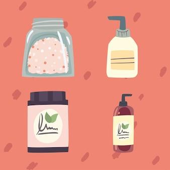 Set pictogrammen voor spa of schoonheidssalon