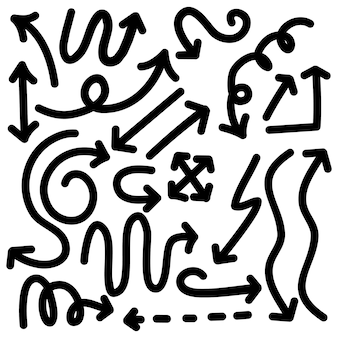 Set pijlen doodle collectie