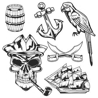 Set piraat elementen
