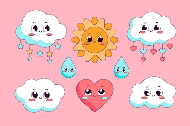 Set platte chuva de amor decoratie-elementen