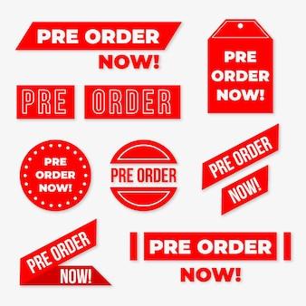 Set pre-order badges