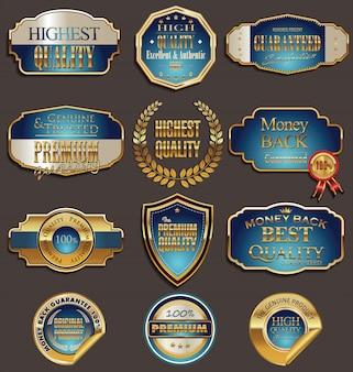 Set premium gouden etiketten