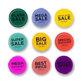 Set premium kwaliteitslabels moderne vector illustratie labels om te winkelen vectorillustratie