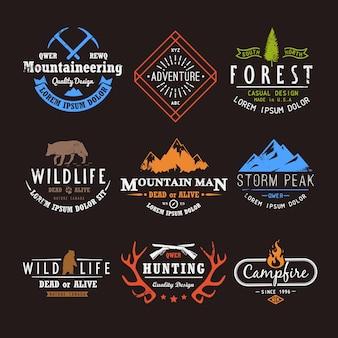 Set premium labels over de thema's dieren in het wild