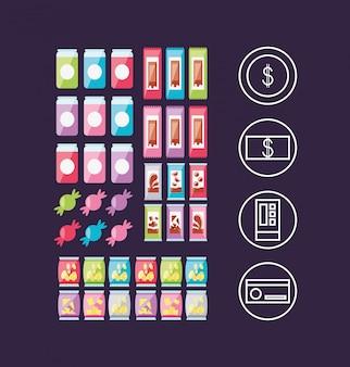 Set producten voor dispensermachine