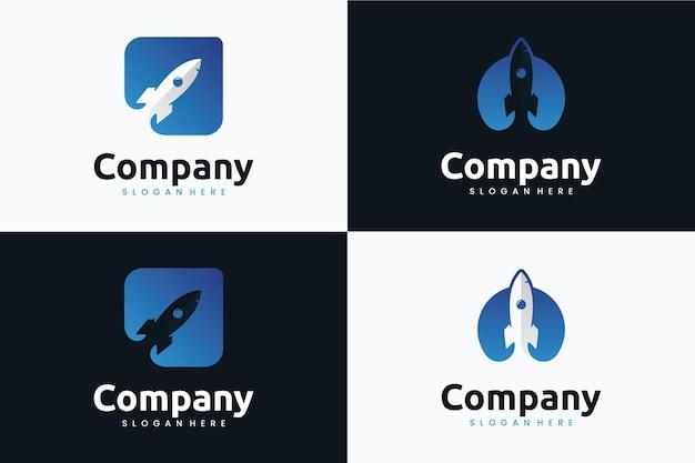 Set raket logo sjabloon