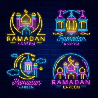 Set ramadan neonreclames