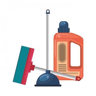Set reinigingsapparatuur en -producten