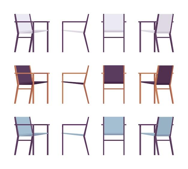 Set retro fauteuils in verschillende kleuren