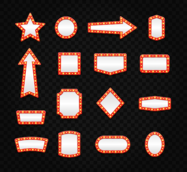 Set retro selectiekader lege frames