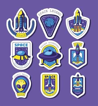 Set ruimtestickers