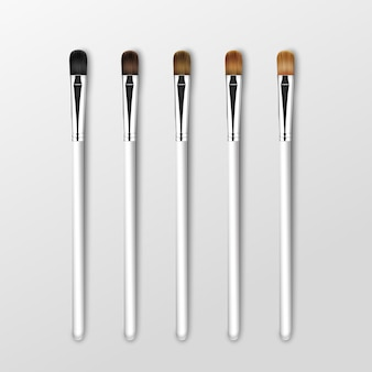 Set schone professionele make-up concealer oogschaduwborstels