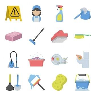 Set schoonmaak service-elementen