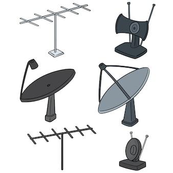 Set schotelantenne en antenne