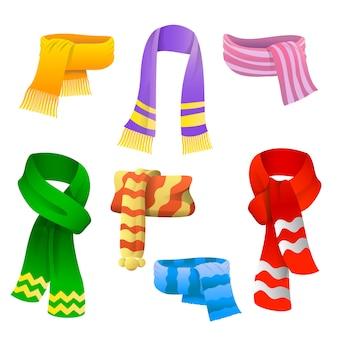 Set sjaals voor jongens en meisjes bij koud weer