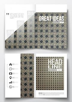 Set sjablonen voor brochure