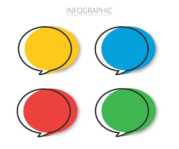 Set sjabloon tekstballon