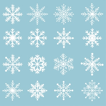 Set sneeuwvlok.