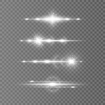 Set snelheidslijnen in cirkelvorm