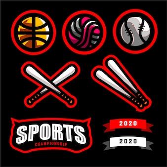 Set sport logo kampioenschap
