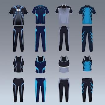 Set sportkleding voor atleten