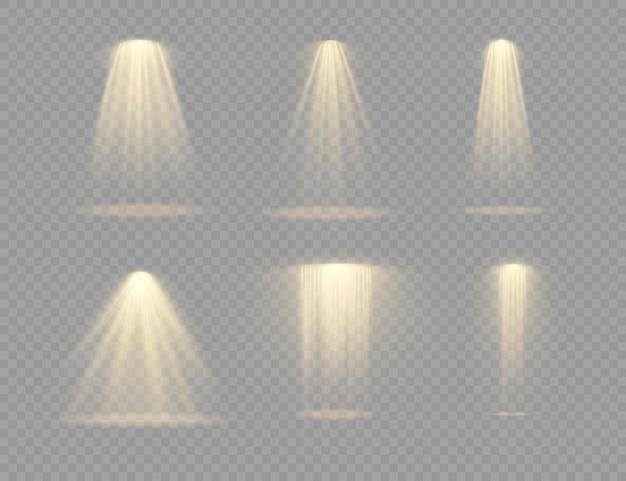 Set spotlight geïsoleerd