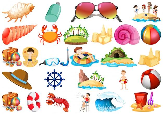 Set strandelementen