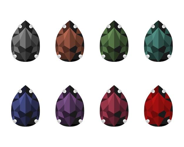 Set strass steentjes in caps