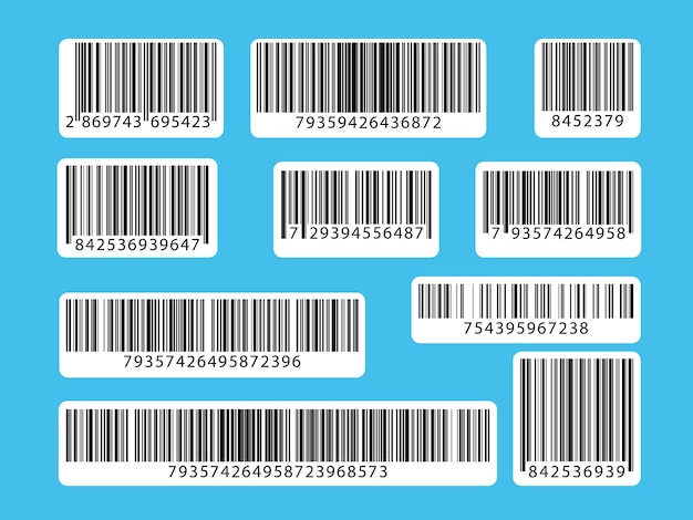 Set streepjescodes. collectie qr-codes, illustratie.