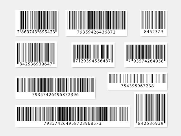 Set streepjescodes. verzameling qr-codes. .
