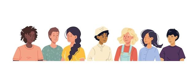 Set stripfiguren met verschillende looks