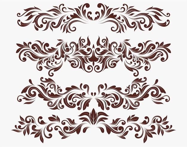Set swirl elements voor ontwerp