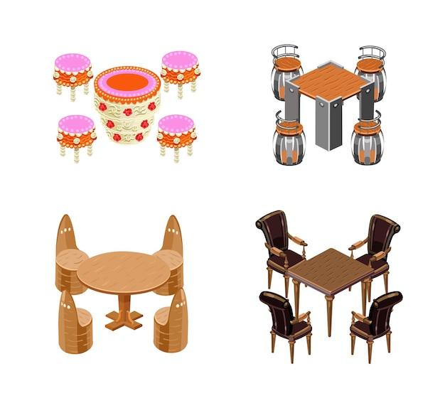 Set tafels en stoelen