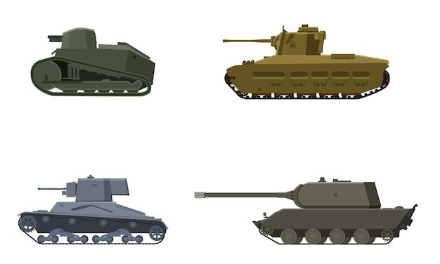 Set tank amerikaans duits groot-brittannië franse wereldoorlog