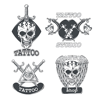 Set tattoo emblemen