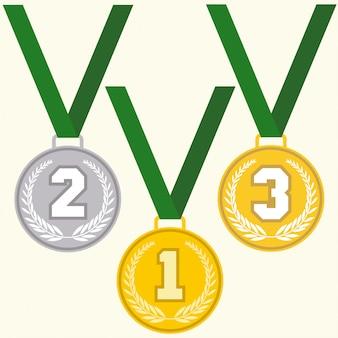 Set tekenen medaille