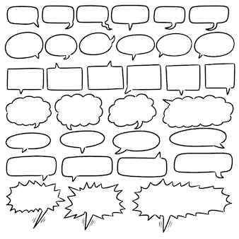 Set tekstballonnen