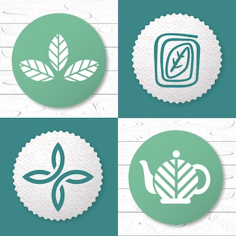 Set thee logo designelementen