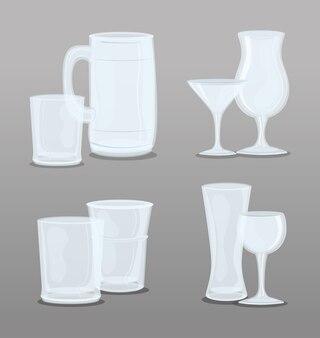 Set transparante glazen