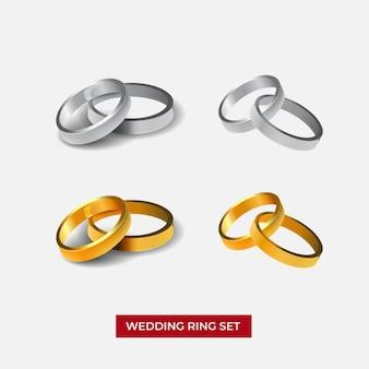Set trouwringen