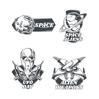 Set ufo-emblemen