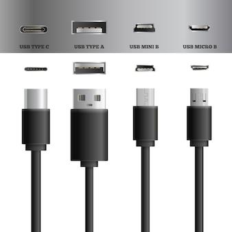 Set usb-kabelsets