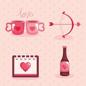 Set valentijnsdag elementen