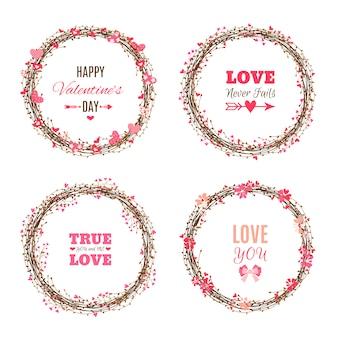 Set valentijnsdag kransen