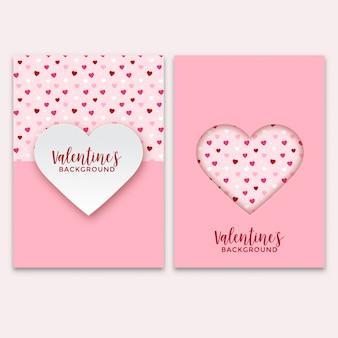 Set valentijnsdag wenskaarten