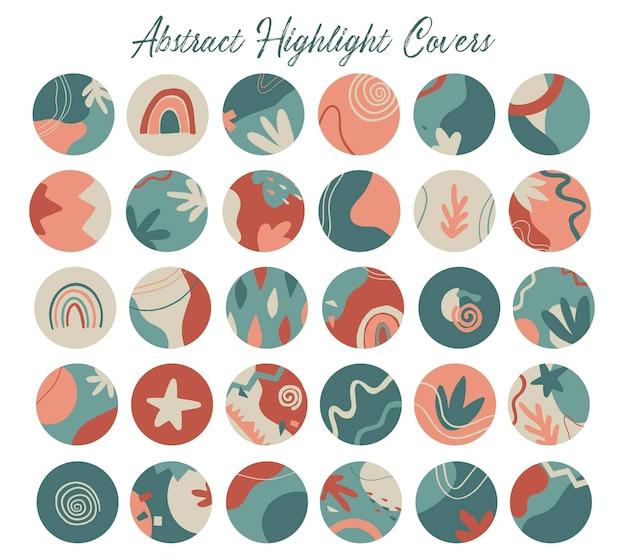 Set van 30 covers voor abstracte hoogtepunten
