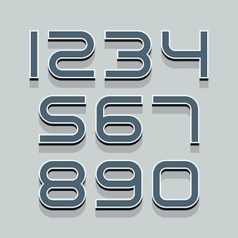 Set van 3d-nummers