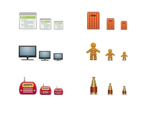 Set van 540 iconen