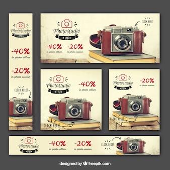 Set van aanbod fotografie banners