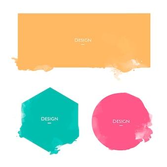 Set van aankondiging badge sjablonen ontwerp illustratie